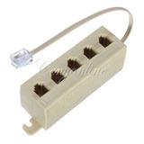 Adaptador Cable Jack 5 Vías Rj11 Línea Teléfono Modular Lte