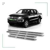 Kit 4 Cubre Zócalos Protector Para Vw Volkswagen Amarok Estribos Molduras Acero Inoxidable Juego De Accesorios X4