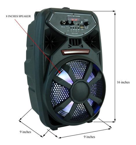 Bocina Mediana Con Microfono Radio Bluetooth *soy Tienda*
