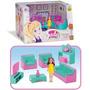 Sala Judy Home Com Boneca 8 Pçs Samba Toys Sofa Brinquedos Original