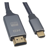Cable Hmdi V2.0 4k Ultra Hd A Usb Tipo C V3.1 Largo 1.8mts