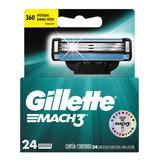 Carga Para Barbear Gillette M3 Reg 24 Unidades
