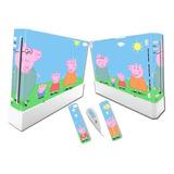 Vinilo Skin Adhesivo Pegotin Nintendo Wii Peppa Pig