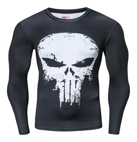 Camisetas Vengadores Lycra Marvel Dc Comic Punisher,superman