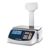 Balanza Comercial Digital Systel Cuora Max 30kg Con Mástil 110v/220v Blanco