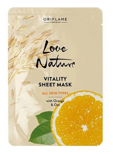 Mascarilla Facial De Naranja Y Avena Love Nature Oriflame