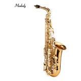 Muslady As-482 E - Saxofón Alto Plano (latón), Color Dorado
