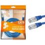 Cabo De Rede Blindado 5m Ethernet Rj45 Cat6 Azul 5 Metros Original