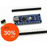 Arduino Nano V3 Atmega328 Ch340 Mini Usb 16m 5v Pines