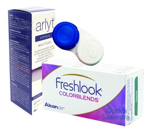 Freshlook Colorblends Lentes Color + Liquido 60ml + Estuche