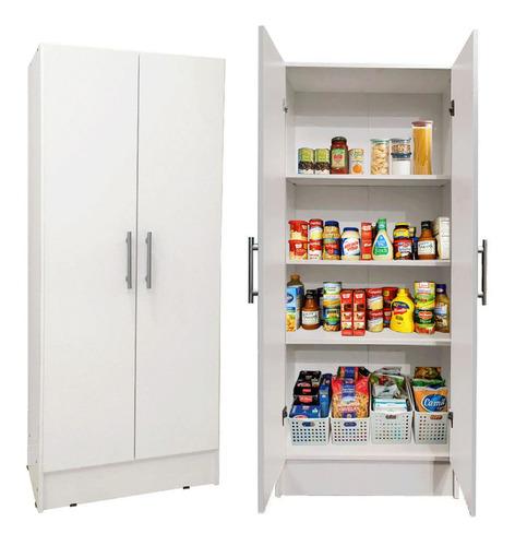 Despensero 2 Puertas Organizador Cocina 60x150 Fondo Blanco@
