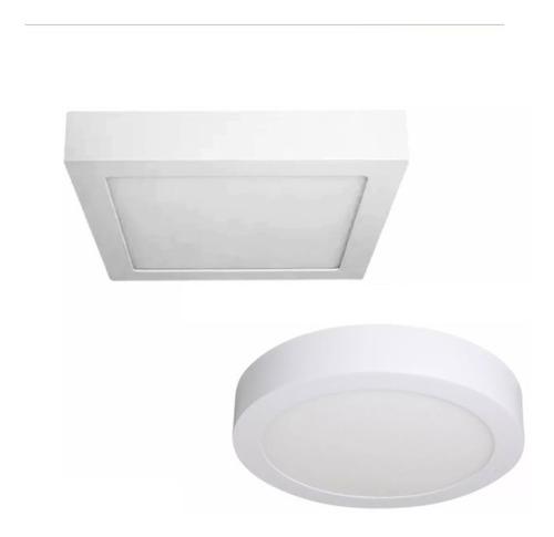 Plafon Aplicar Led 18w Redondo Cuadrado Luz Fria O Calida Completo Para Instalar  Garantia 2 Años !!