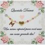 Pulseira Coração Madrinha De Casamento Rosê Banhada Original