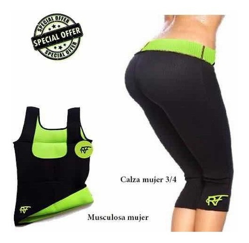 Musculosa Y Calza Reductora Mujer