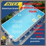 Piscina Intex Premium Gigante 16x48. Lona Cover Bomba Escale