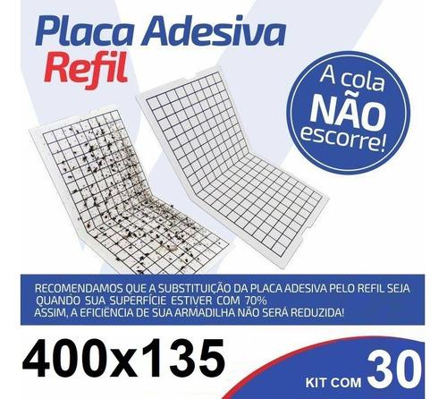 30 Peças Refil 400x135mm Armadilha Pega Mata Mosca Mosquito