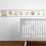 Faixa Decorativa Infantil Bebê Papel Parede Safari Animais