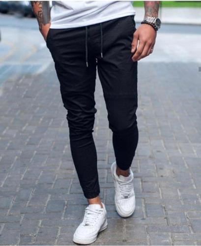 Pantalón Jogger Elastizado Tela Gabardina