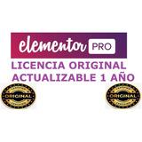 Elementor Pro Licencia Original Y Actualizada 1 Año