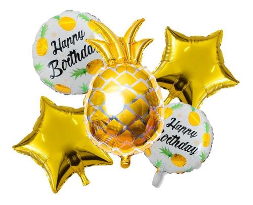 Globo Cumpleaños Anana Set X 5 Piezas