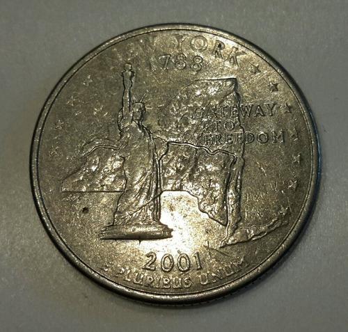 Moneda Cuarto De Dolar Conmemorativa New York (a49)