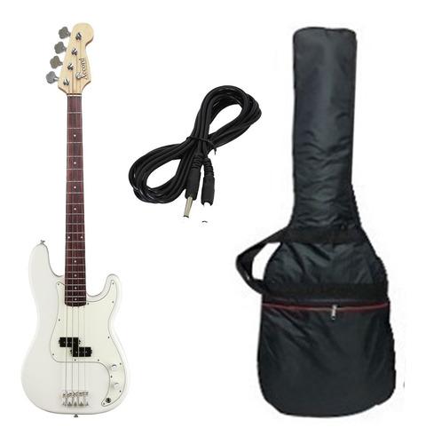 Bajo Electrico Accord Precision Bass Blanco + Funda + Cable