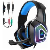 Auriculares Gamer Para Xbob/ps4/switch/laptop/phone Luz Led