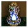 Fonte Água Cascata Ganesha Com Esfera Giratória E Luz Led Original