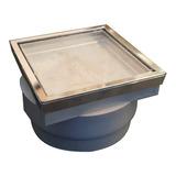 Desague 10x10 Vista Dual Porcel/inox. Acuadual Baño Full