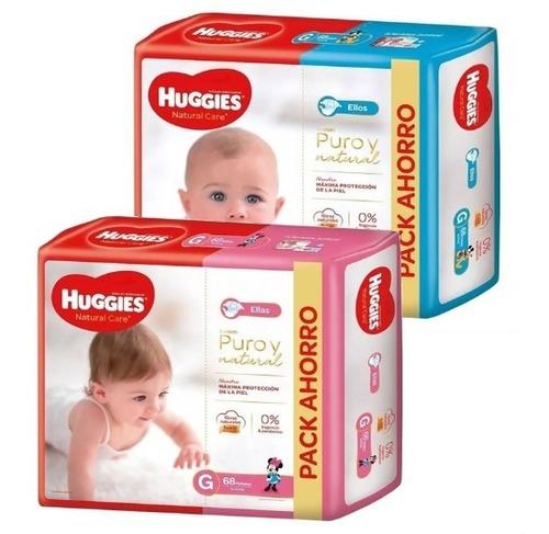Huggies Puro Y Natural Ellos/as M/g/xg/xxg  Pack X1 Unid