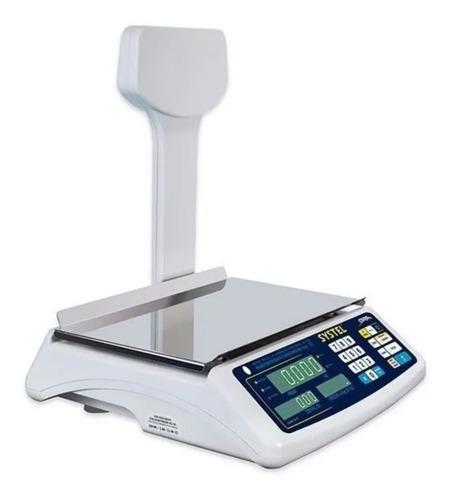 Balanza Systel Croma Comercial Digital  31kg Con Mastil