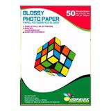 Papel Fotografico Glossy Brillante A4 De 200gr/50 Hojas