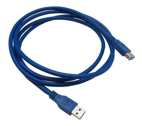 Cable Extensor Usb 3.0 1,5 Metros Azul Techcenter