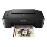 Impresora A Color Multifunción Canon Pixma Mg3010 Con Wifi Negra 110v/220v