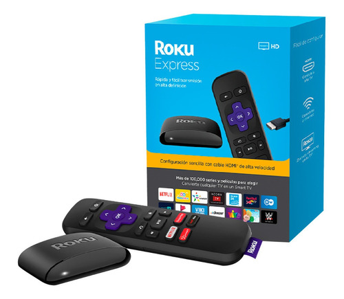 Roku Express Streaming Netflix Youtube Amazon Disney Y Más