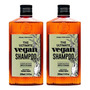 Kit Shampoo Masculino Qod Barber The Ultimate Vegan 2x220ml Original