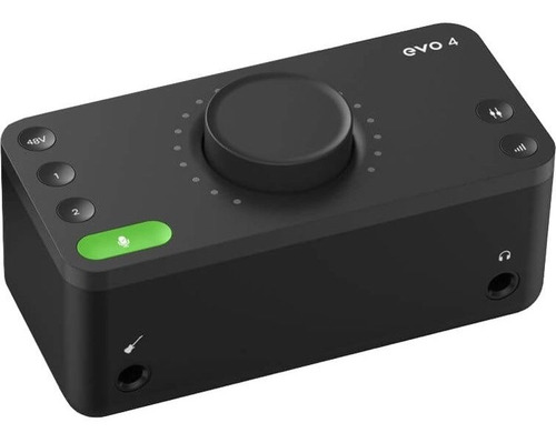 Placa Interfaz De Audio Pc Y Mac 2 Entradas Audient Evo4
