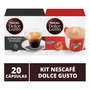 20 Capsulas Dolce Gusto, Capsula Cafe Espresso E Nescau Original