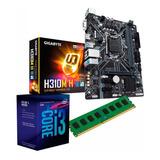 C74 Combo Actualizacion Pc Intel I3 9100f + H310 + 8gb Mexx