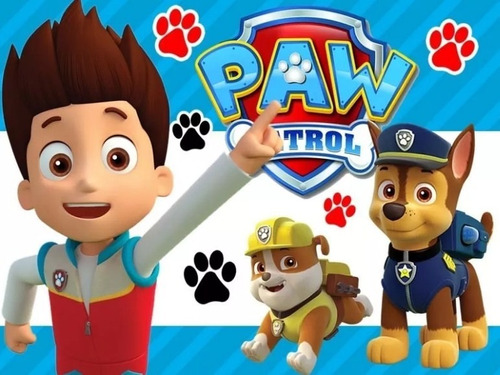 Kit Imprimible Candy Bar Paw Patrol Fiesta 3x1