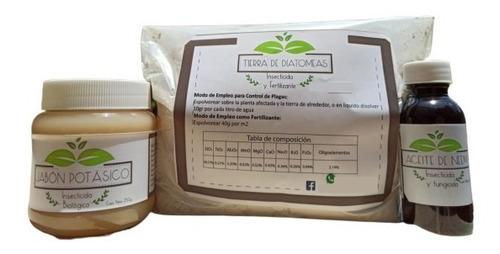 Kit 1 Jabón Potásico - Tierra De Diatomeas - Aceite De Neem