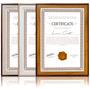 2 Moldura Quadro P/ Certificado Diploma Gravuras Fotos A4 Original