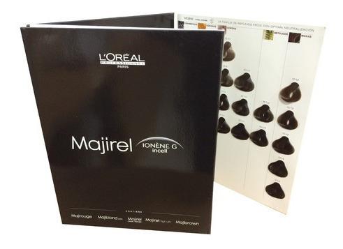 1 899 Carta De Colores Tintura Loreal Majirel Salón Profesional