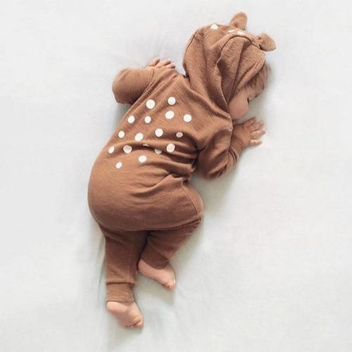 Enterito Bebé Con Capucha, Diseño Nórdico