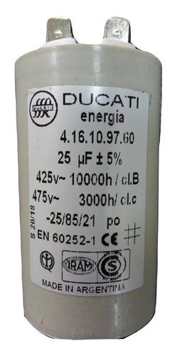 Capacitor De Arranque Para Motor, 25 Y 32 Microfaradios