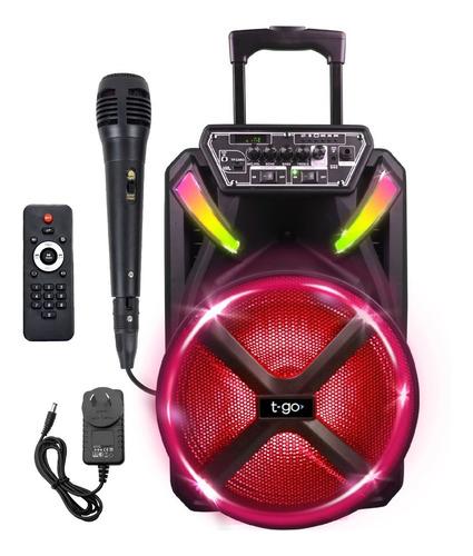 Parlante Bluetooth Portatil T-go Woofer 15 Pulgadas Potente