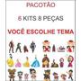 Pacotão 6 Kits Display 4 Peças Mdf Festa Você Escolhe Tema Original