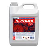 Desinfectante Alcohol 70% Sanitizante Liquido 5lt Con Anmat