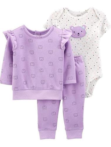 Conjunto Set De 3 Piezas Carters Bebes Nenas 12 Meses