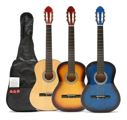 Guitarra Criolla Clasica Nuevas Calidad Con Funda Pua Manual